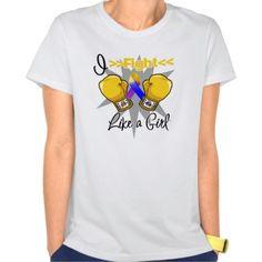 Bladder Cancer I Fight Like a Girl With Gloves Tshirt by www.fightlikeagirlgiftshop.com #fightlikeagirl