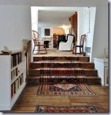 Draping rug down stairs