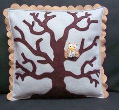 Owl Tree Fall Pillow