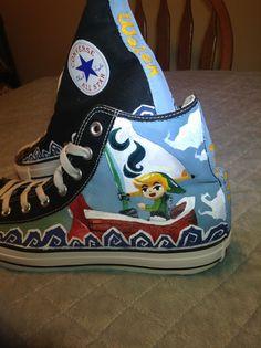Cool The Legend of Zelda Wind Waker shoes!!  https://www.etsy.com/listing/167931477/custom-legend-of-zelda-wind-waker-shoes