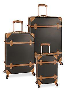 Diane von Furstenberg Adieu Hardside Spinner Luggage Collection - Black