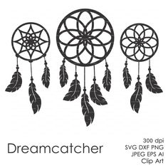 Dreamcatcher Feather plume (eps, svg, dxf, ai, jpg, png) Vector Digital ClipArt Wall Decor Decal Vinyl Cutting File Silhouette Cameo by EasyCutPrintPD on Etsy