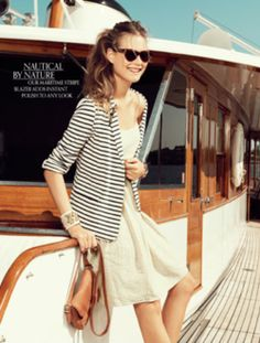 its behati! shes such a bad ass and i love the nautical look!!