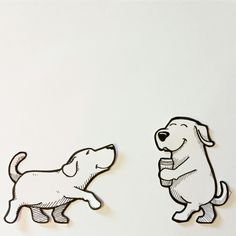 #cutecoolawesome dog stickers.  #streetartstickers #cartoon #dogs