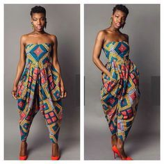 African Print Jumpsuit by CeddyChester African Attire, African Wear, African Women, African Dress, African Style, African Inspired Fashion, African Fashion, Mode Wax, African Print Jumpsuit