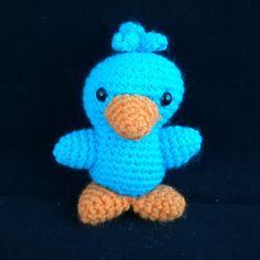 porte clé canard amigurumi crochet turquoise
