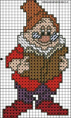 Borduurpatroon Disney 7 Dwergen *Cross Stitch Pattern 7 Dwarfs  ~alle 7 Dwergen 3/7~