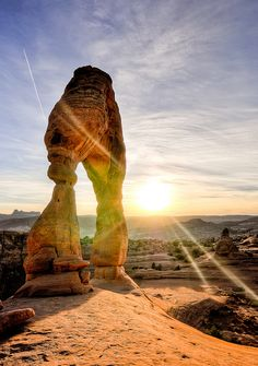 Sunset in Arches National Park, Utah