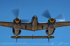 "Lockheed P-38J Lightning ""23 Skidoo"" up close and personal."
