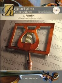 Repertoire Classics for Violin: 27 Recital Pieces from Baroque to Modern - Book & CD. £12.50