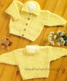 PDF Knitting Pattern for Aran Cardigan & Sweater to fit Chest