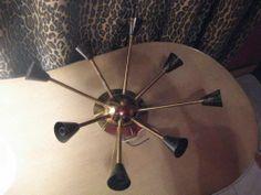 Vintage Mid Century Atomic Starburst Sputnik Lamp Fixture Retro Space Age Light | eBay