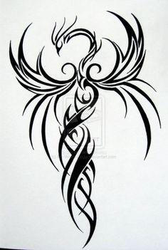 Tattoo Back Phoenix Cherry Blossoms Ideas - Evil eye Tattoo, Trendy Tattoo Back Phoenix Cherry Blossoms Ideas - Evil eye Tattoo, Trendy Tattoo Back Phoenix Cherry Blossoms Ideas - Evil eye Tattoo, Phoenix Tattoo Sleeve, Tribal Phoenix Tattoo, Tattoo Tribal, Small Phoenix Tattoos, Phoenix Tattoo Design, Tattoo Dragon And Phoenix, Phoenix Tattoo Feminine, Geometric Tattoos, Tattoos Phönix