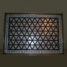 This is making me think, don't forget about the ceilings. Teak Ceiling Panel Hand Inlaid with Mother of Pearl and Bone in a Geometric Design Ceiling Panels, Ceiling Tiles, Painting Templates, Home Decor Accessories, Ceilings, Teak, Geometry, Don't Forget, Typography