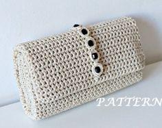 Crochet Pattern Crochet Bag Pattern Tote Pattern por isWoolish