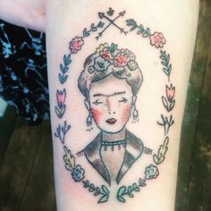 Frida Kahlo tattoo by Lapin Lou