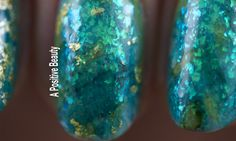 The ocean nail art was inspired by Sebastian from The Little Mermaid!  #nailart #nails #bblogger #TheLittleMermaid