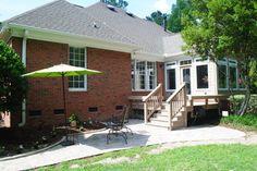 Beautiful AZEK Deck And Sunroom In Northeast Columbia, SC. Custom Builders, Deck Builders, Building A Deck, Building Design, Sunrooms And Decks, Sunroom Windows, Sunroom Addition, Patio Enclosures, Wood Patio