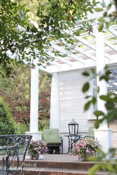FRENCH COUNTRY COTTAGE PERGOLA