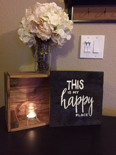 Handmade This is my Happy Place Pallet Art Sign Wooden Sign Home Decor Love Signs Happy Sign Family Pallet Wood Reclaimed Wood Hand Painted by ItIsAllInTheDetails on Etsy