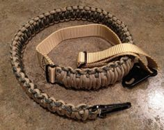Paracord Rifle Sling -- Adjustable and Includes Snap Hooks Survival Knife, Survival Prepping, Survival Gear, Survival Skills, Survival Hacks, Survival Quotes, Outdoor Survival, Paracord Knots, 550 Paracord