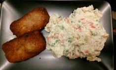 Sójové rezne s majonézovým šalátom Plant Based Eating, Potato Salad, Grains, Rice, Potatoes, Cooking, Ethnic Recipes, Food, Baking Center