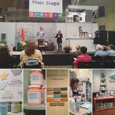 @fusionmineralpaint Jennylyn Pringle & Michael Penney are on stage now! Be sure to stop by the booth anytime for great demos inspiration and fun! #FallHomeShowTO #ShapeYourSpace