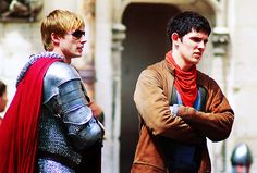 Merlin- Colin Morgan and Bradley James