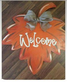 Fall decor for the door!