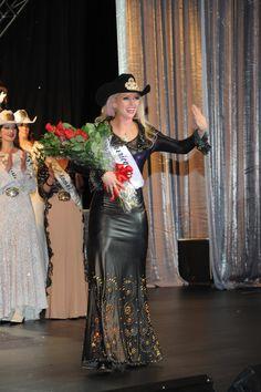 Lauren Henton Miss Rodeo 2015 wearing Jan Faulkner Leather design