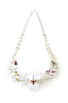 """Anne Ten Donkelaar - """"Wittenoord""""  Fragile jewels of nature been captured in glass beads. 2010"""