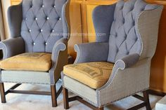 Vintage Upholstered Wing back Chair by ReNewalHomeDecor on Etsy, $1100.00