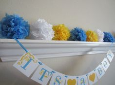 Baby Shower Tissue Paper Pom Poms Weddings by ThePomPomShop, $24.50