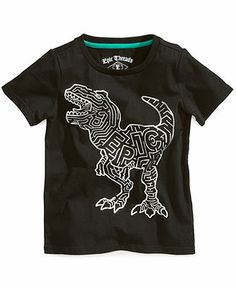 Epic Threads Kids T-Shirt, Little Boys Foil Dino Tee