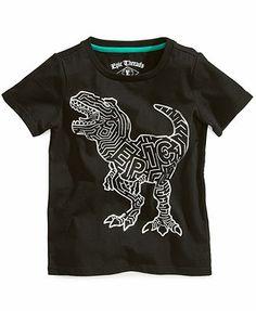Epic Threads Kids T-Shirt, Little Boys Foil Dino Tee