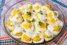 Oua umplute cu branza Orice, Eggs, Breakfast, Food, Romanian Recipes, Morning Coffee, Eten, Egg, Meals