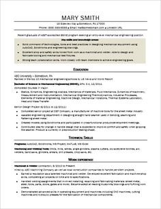 sample resume for an entry level mechanical engineer monstercom. Resume Example. Resume CV Cover Letter