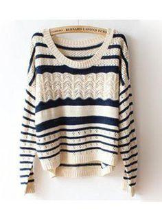 Loose Irregular Hollow Sweater