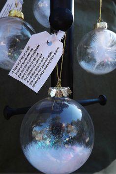 Angel feather ornament / sympathy gift/ or by handmadebysandyo