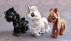 3 Pony Commission by DragonsAndBeasties.deviantart.com