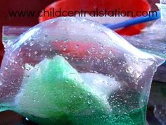 Preschool Chemistry: Fun with Vinegar and Baking Soda   Child Central Station...Baggie bombs...liquid, solid, gas