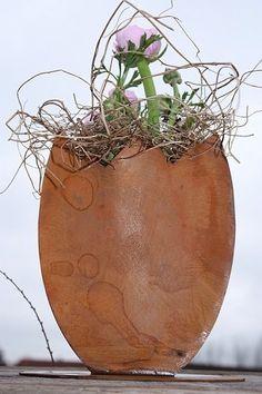 Metall Rost Ei Zum Beflanzen