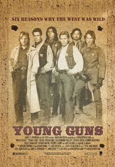 Young Guns (1988) A group of young gunmen, led by Billy the Kid, become deputies to avenge the murder of the rancher who became their benefactor. But when Billy takes their authority too far, they become the hunted.