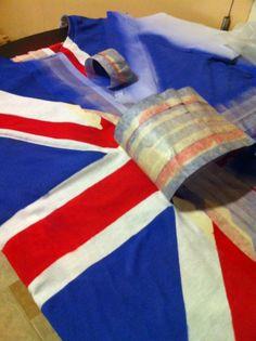 diy british flag t-shirt