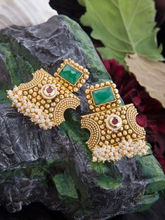 Earrings with Traditional Design