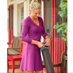 !!! Athleta Purple Mauve Seniorita Dress Cotton !!