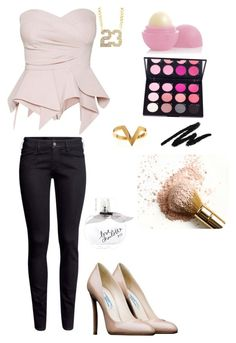 """=]"" by skyfull ❤ liked on Polyvore featuring Prada, Janis Savitt, H&M, Eos and Charlotte Russe"