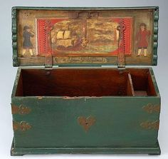 Sea Chest with Brass Trim, 1775-1800 - Holland.