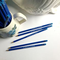 awesome 'I'd rather be op-shopping' - pencils from emmamakes Stationery, How To Make, Pencil, Mood, Shopping, Collection, Awesome, Stationeries, Stationery Shop