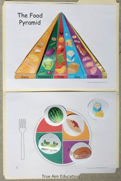 Food Groups Printable File Folder Game, with food pyramid and food serving choices. Preschool At Home, Preschool Learning, Learning Activities, Teaching, Preschool Food, File Folder Activities, File Folder Games, Group Meals, Food Groups